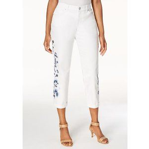 Style & Co Embroidered Slim Leg Jeans Petite 16